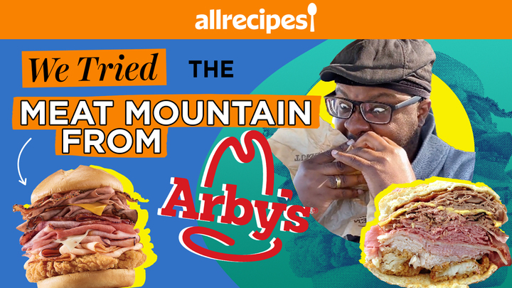 we tried the meat mountain from arby's