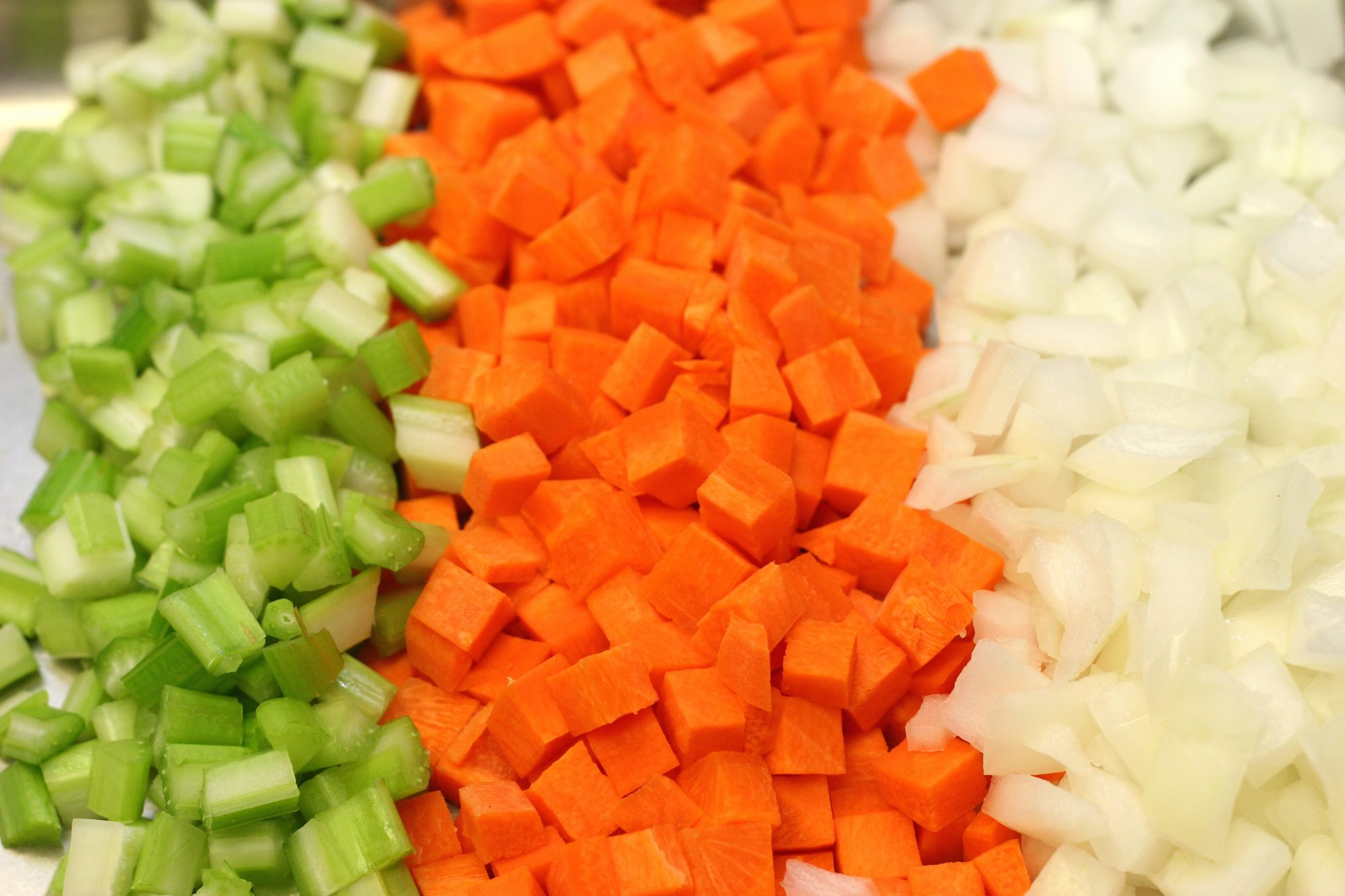 Celery, Carrots and Onions