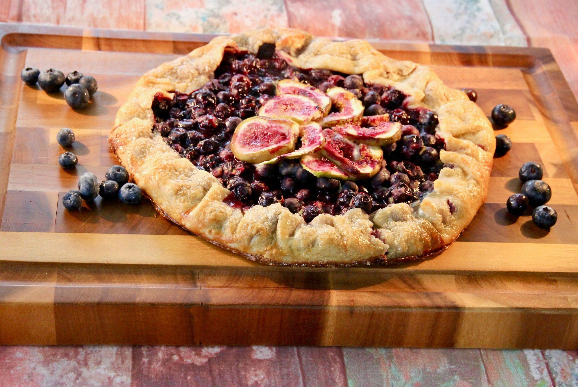 crostata with blueberries and fresh figs