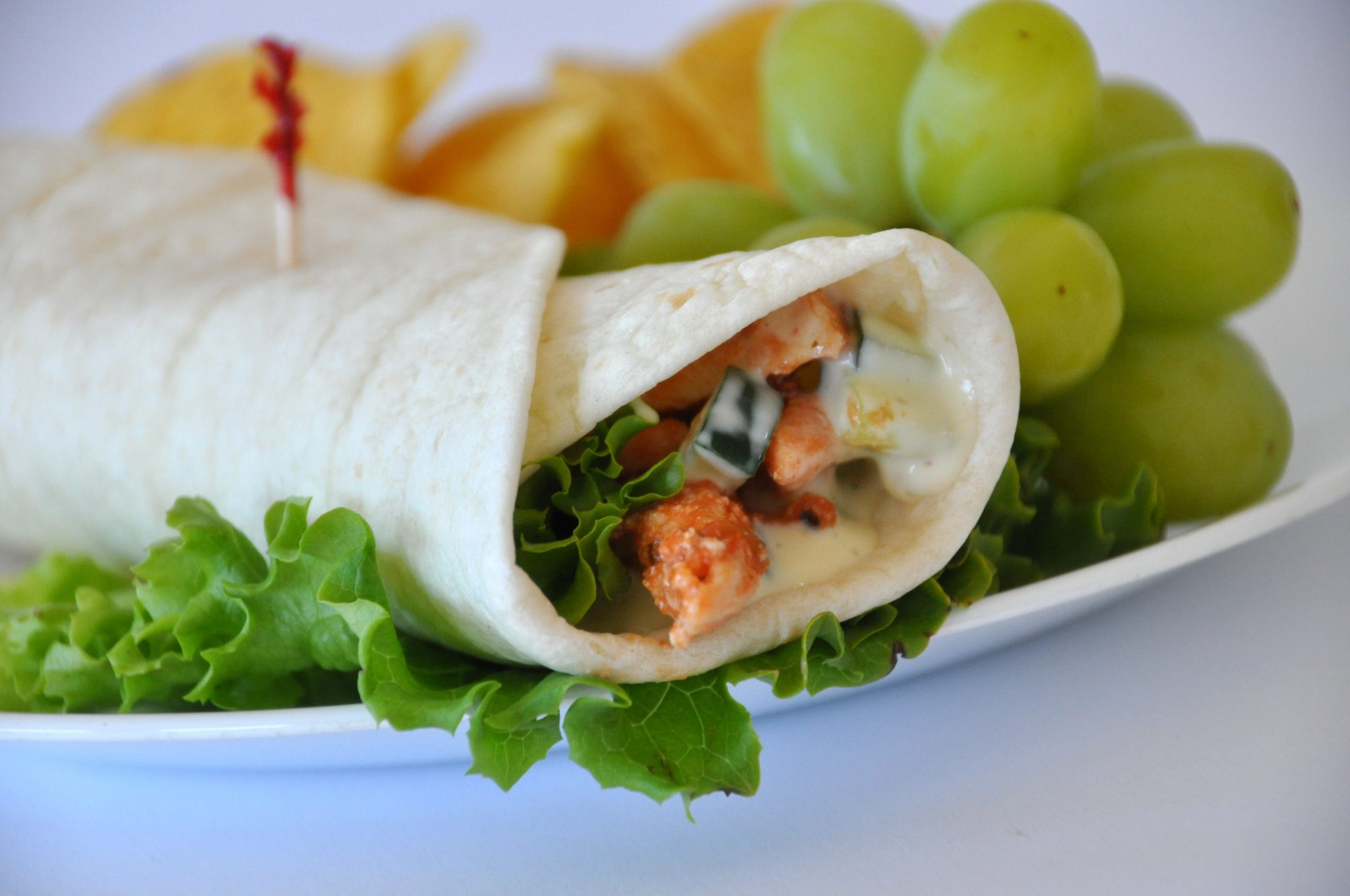 Simple Sweet and Spicy Chicken Wraps