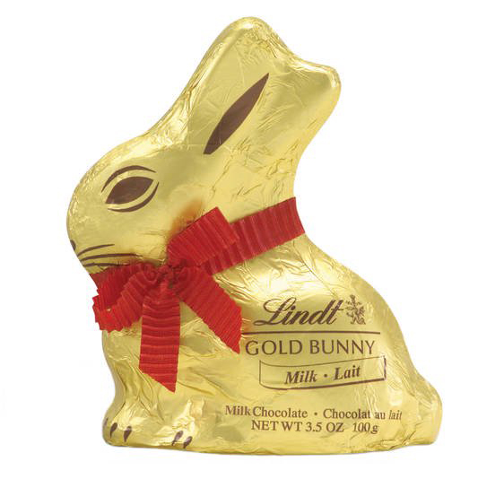Lindt Easter GOLD BUNNY, Hollow Milk Chocolate Bunny