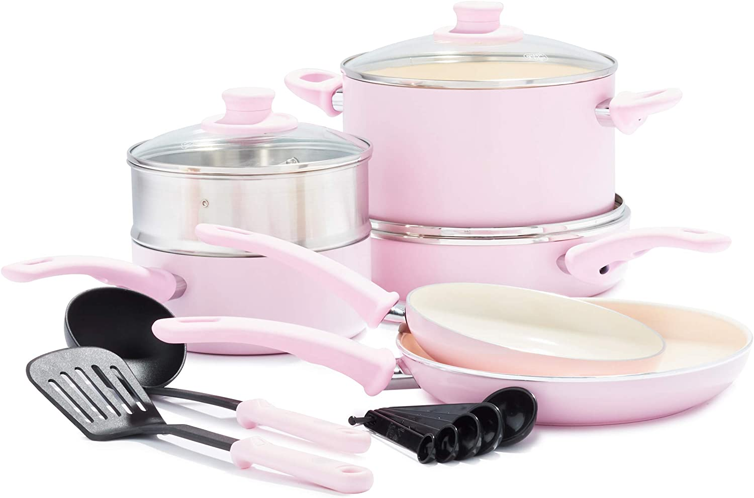 GreenLife 12 Piece in pink