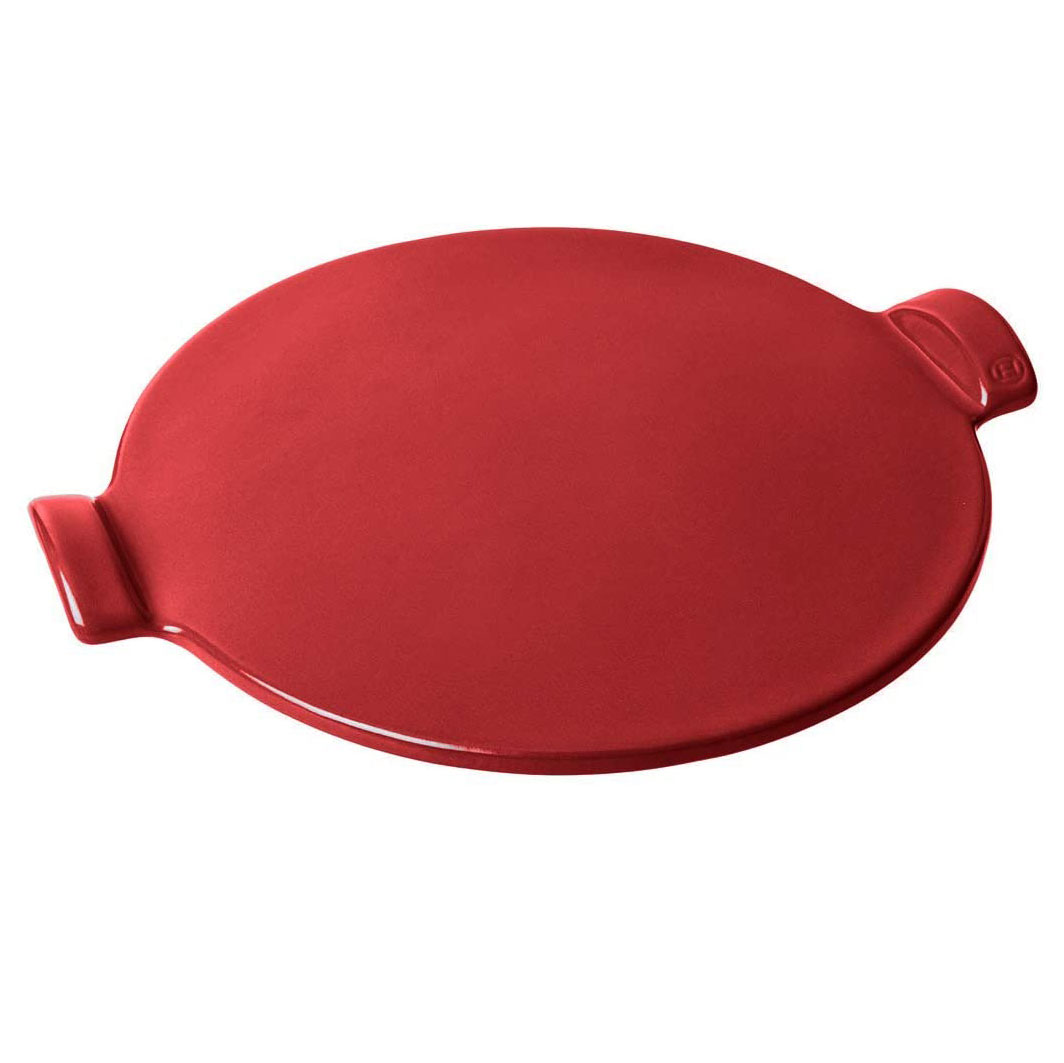 red circular pizza stone