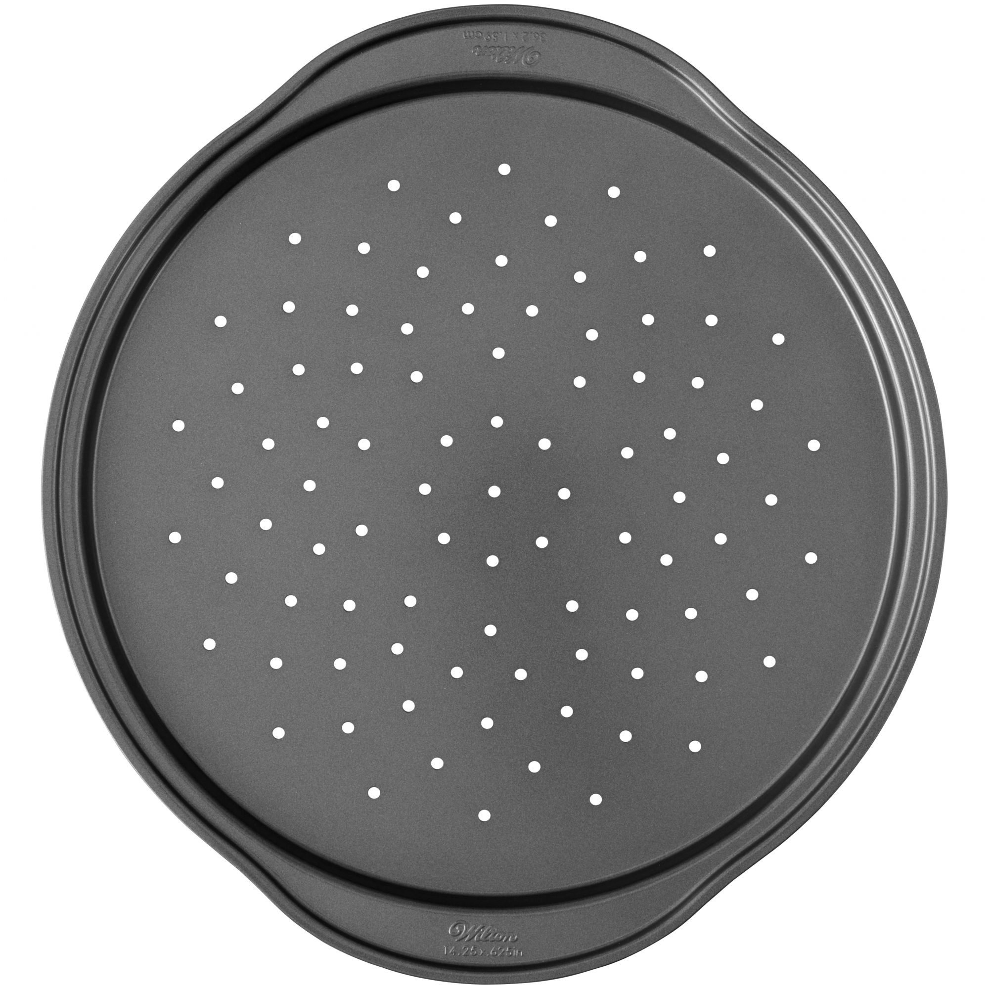 non stick perforated pizza pan