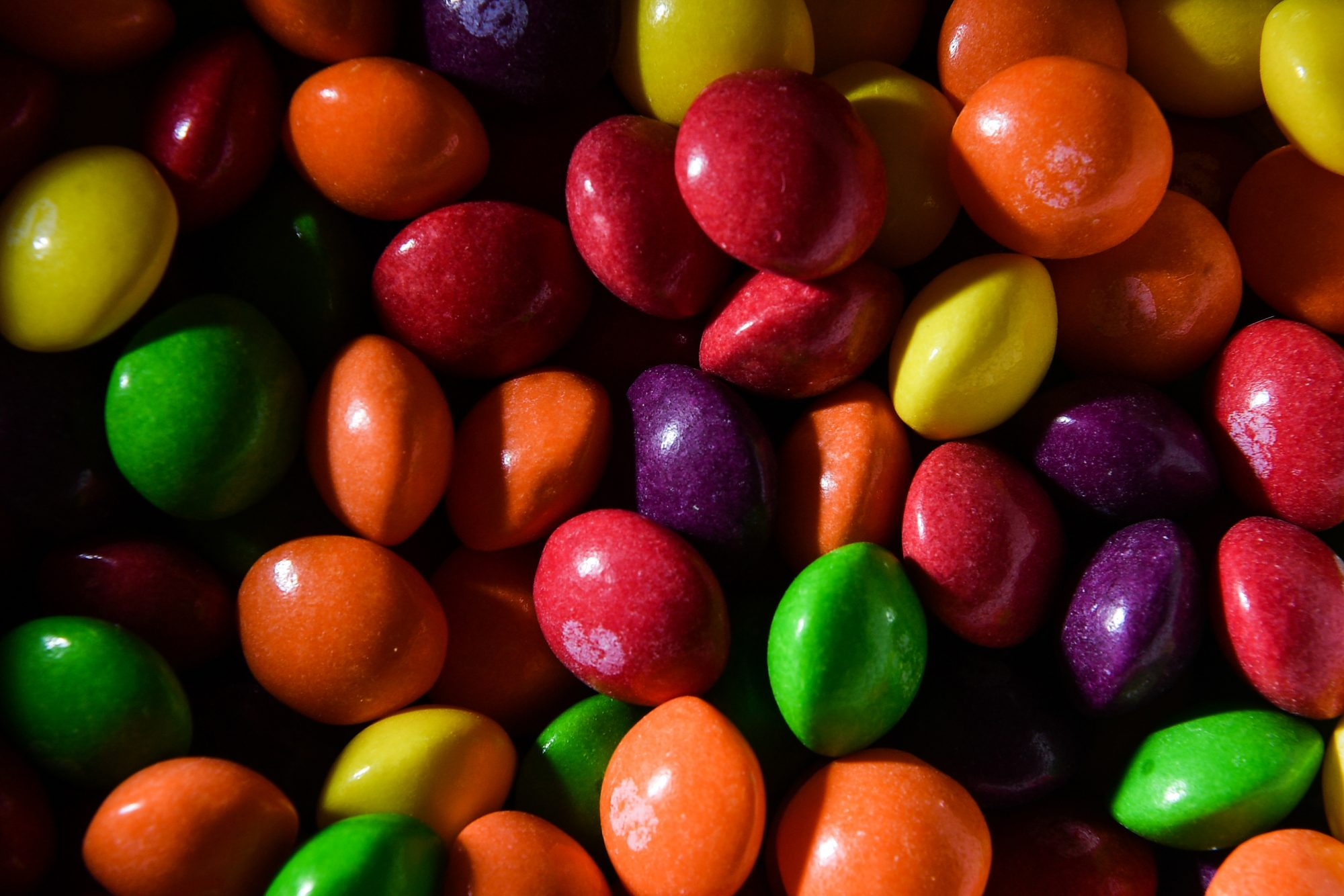 unwrapped skittles all colors