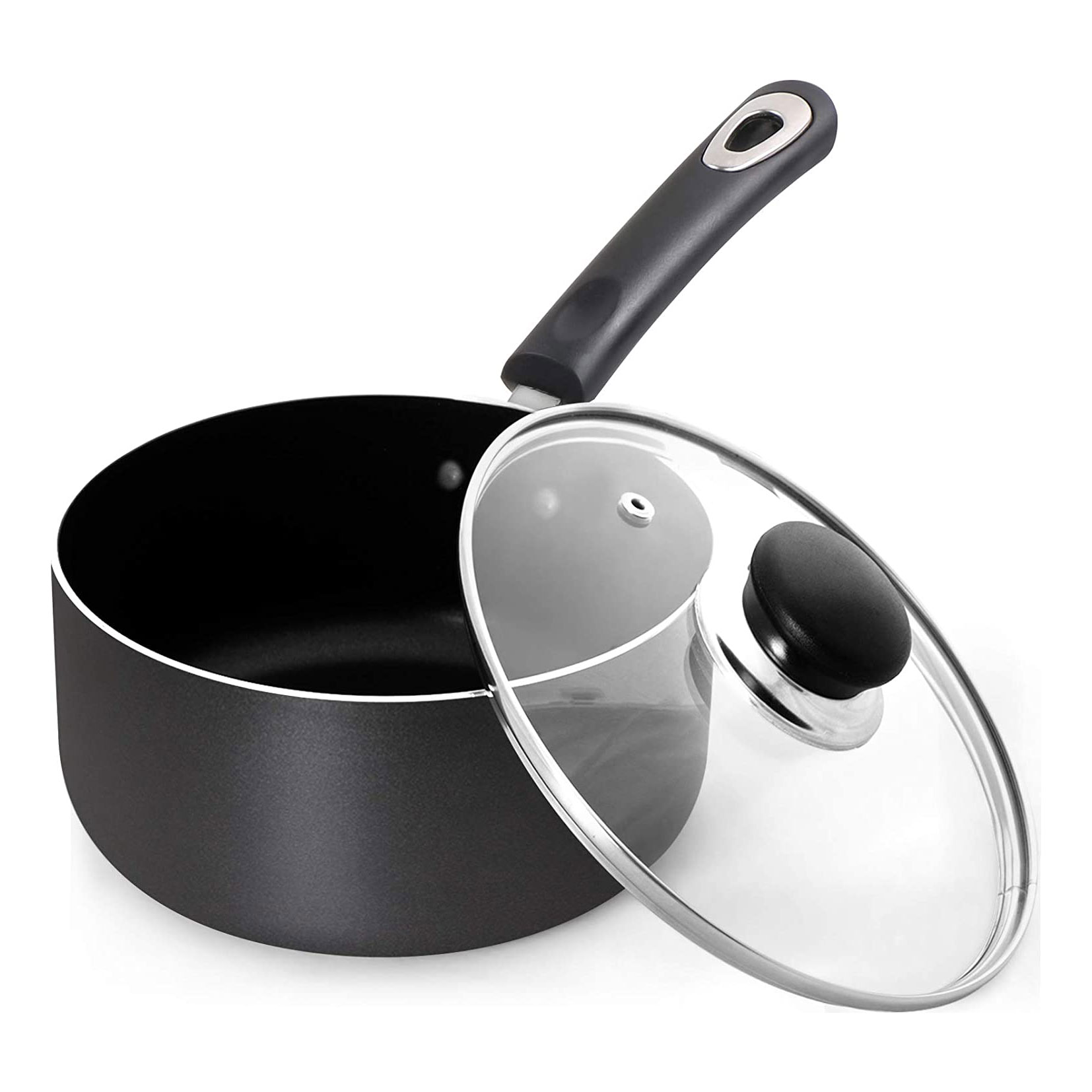 nonstick saucepan with clear lid
