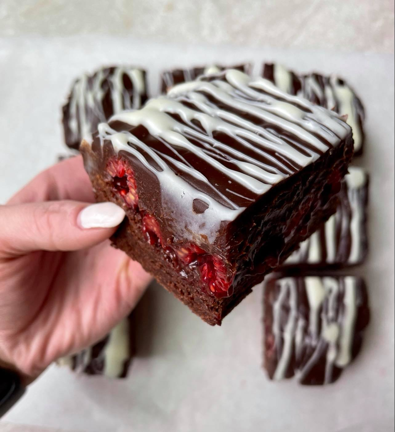 Chocolate Covered Raspberry Brownies