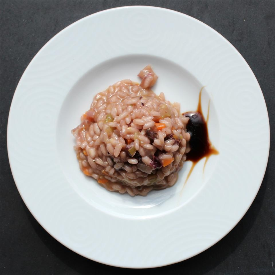 risotto with red wine sauce