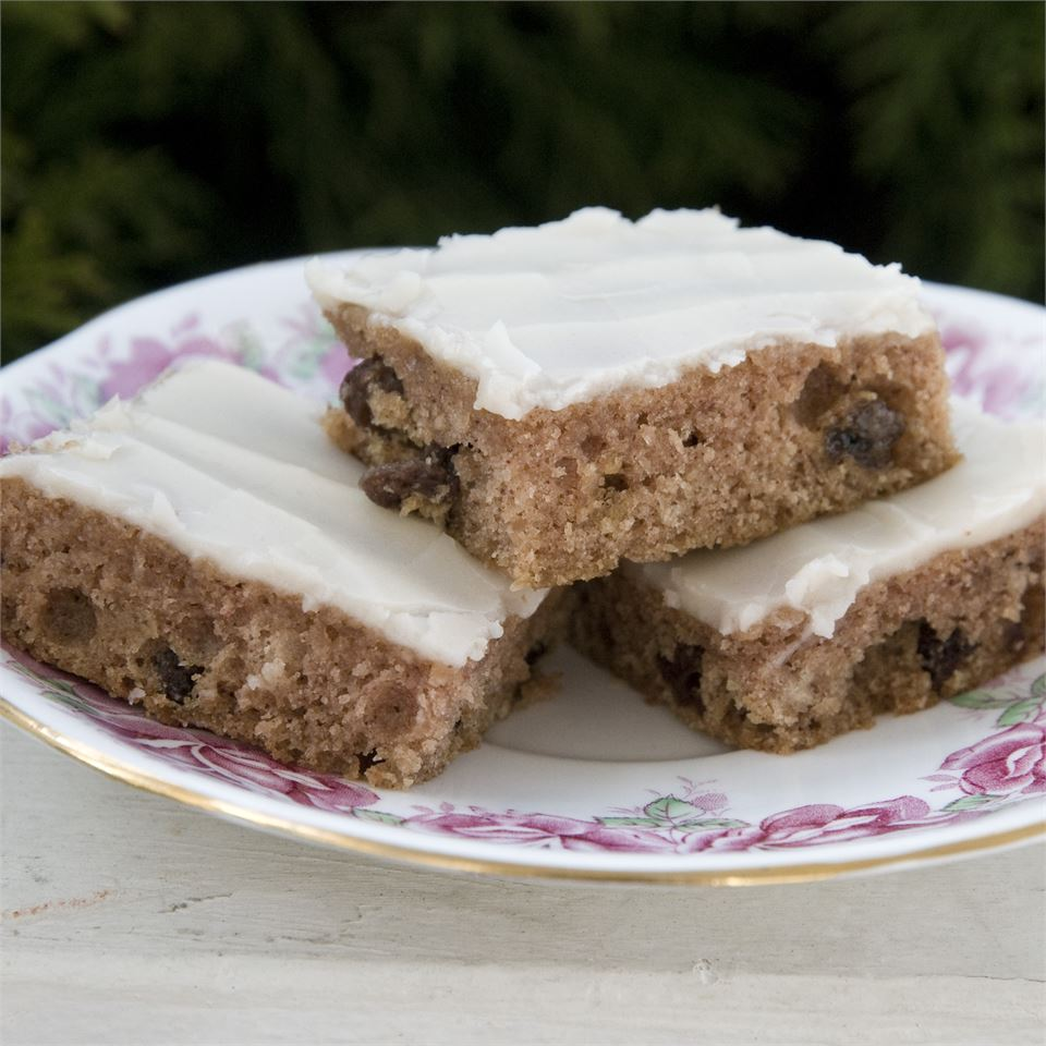 applesauce bars with frosting