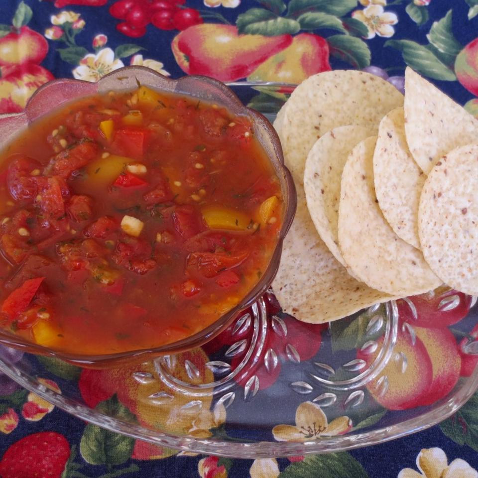 Spicy Tomato Salsa in a bowl