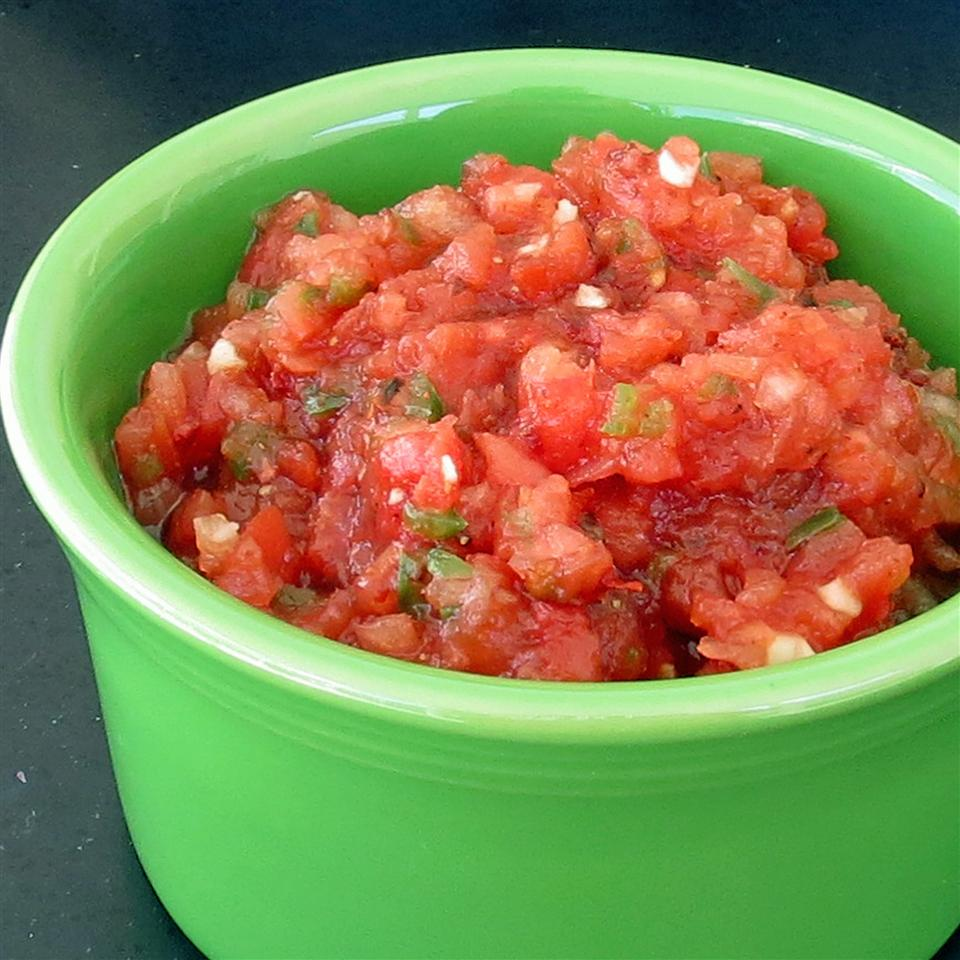 Ancho-Chipotle Salsa in a green bowl