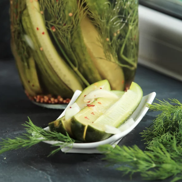 Nothin' Sweet About These Spicy Refrigerator Pickles