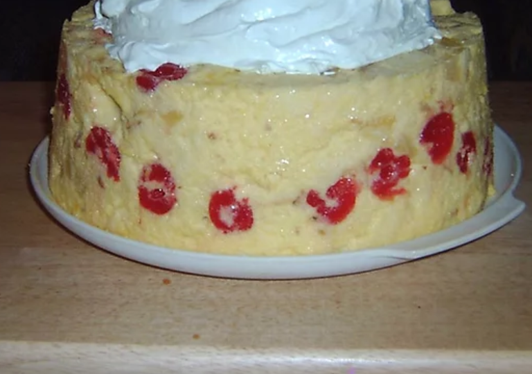 This vintage dessert will be welcome at any picnic or potluck. Maraschino cherries, canned pineapple chunks, and gelatin are wonderfully nostalgic ingredients everyone will love.