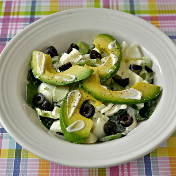 egg white and avocado salad
