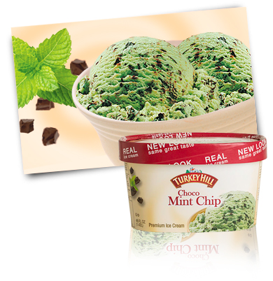 Turkey Hill choco mint chip ice cream