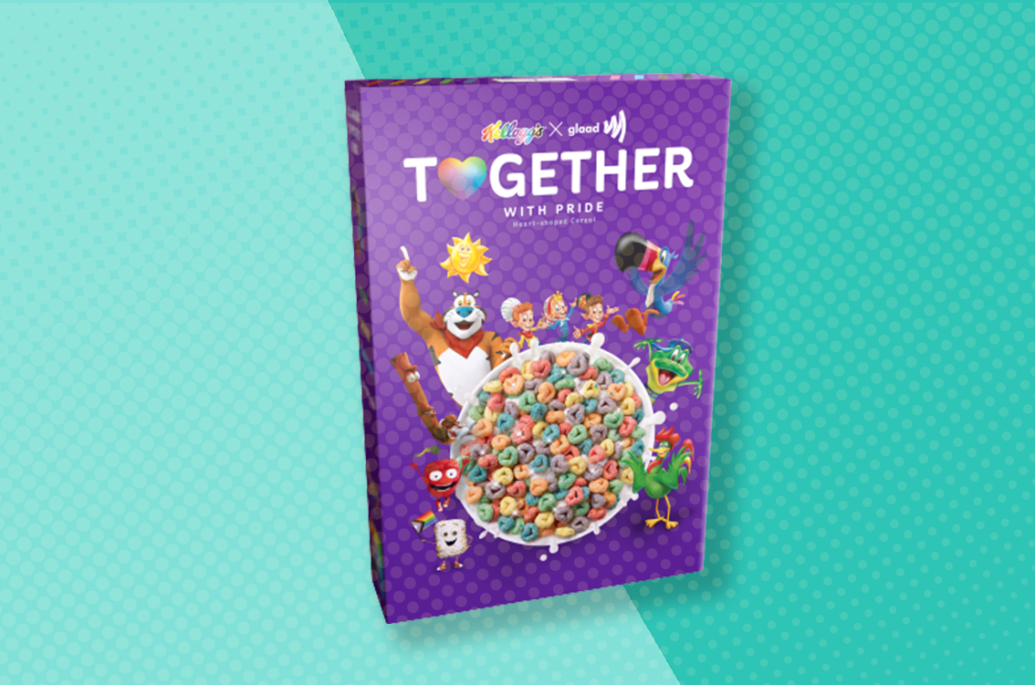 kellogg's together cereal with glaad