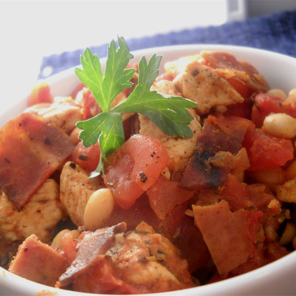 cassoulet with parsley
