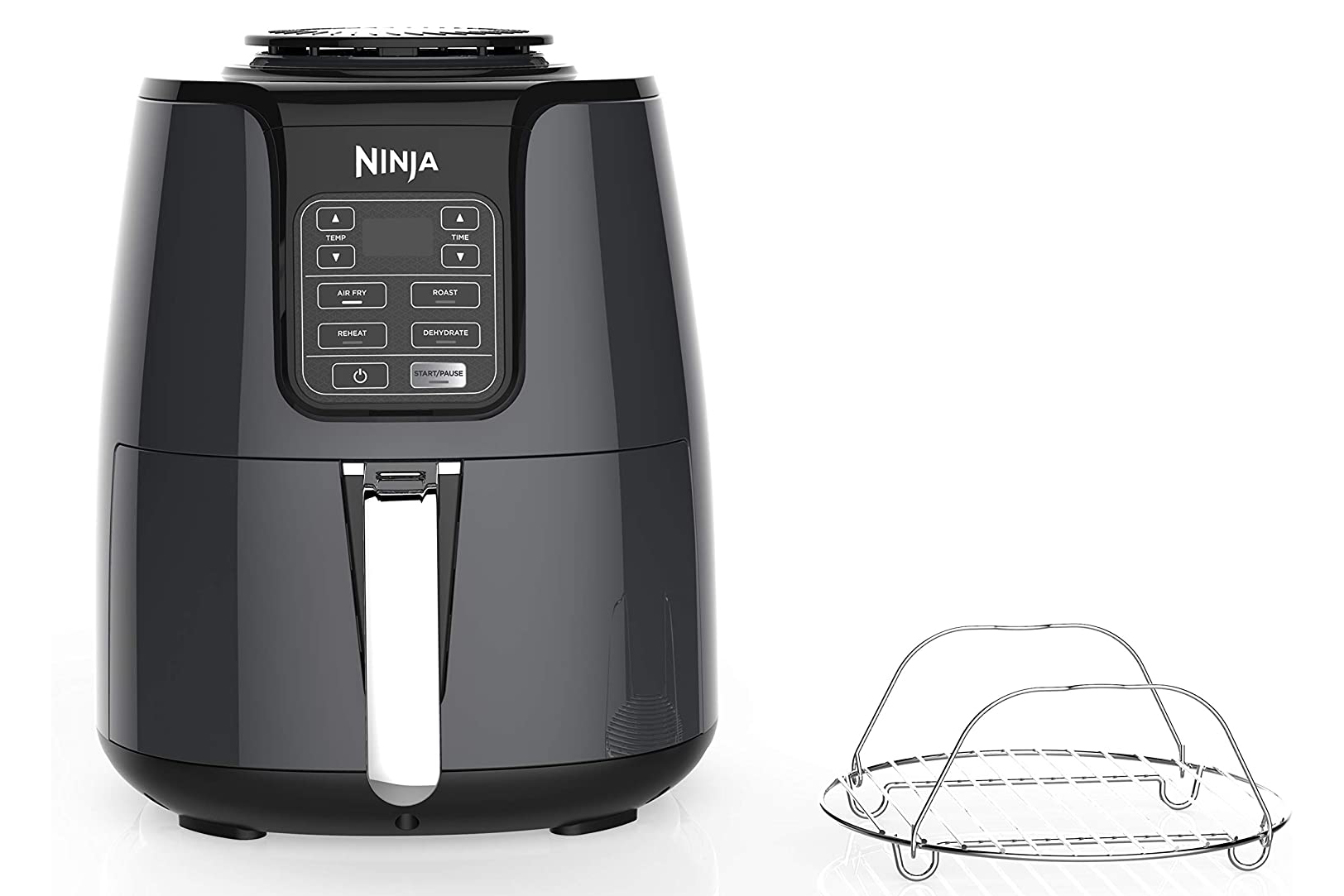 Ninja Air Fryer with basket on white background