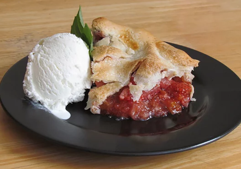Take strawberry-rhubarb pie up a notch with a hint of citrus flavor. Fresh orange juice and orange zest are unexpected, but delicious, additions to the classic dessert.