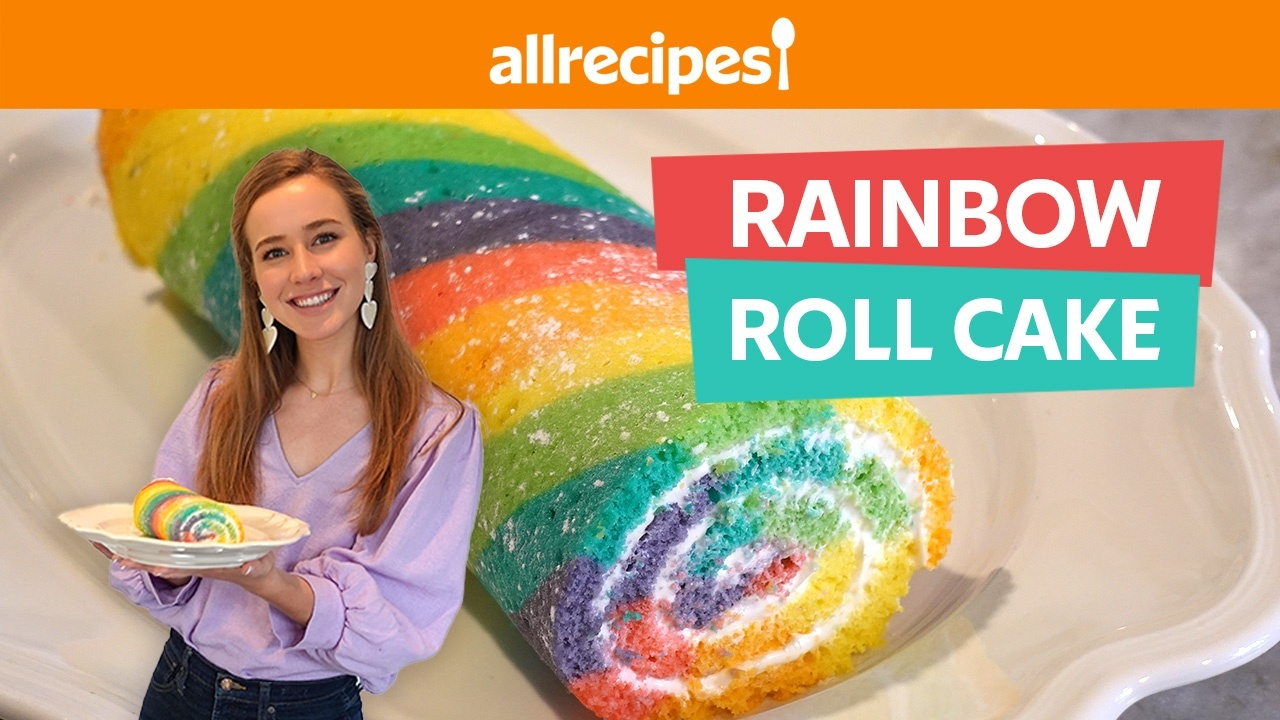 We Tried a Rainbow Roll Cake