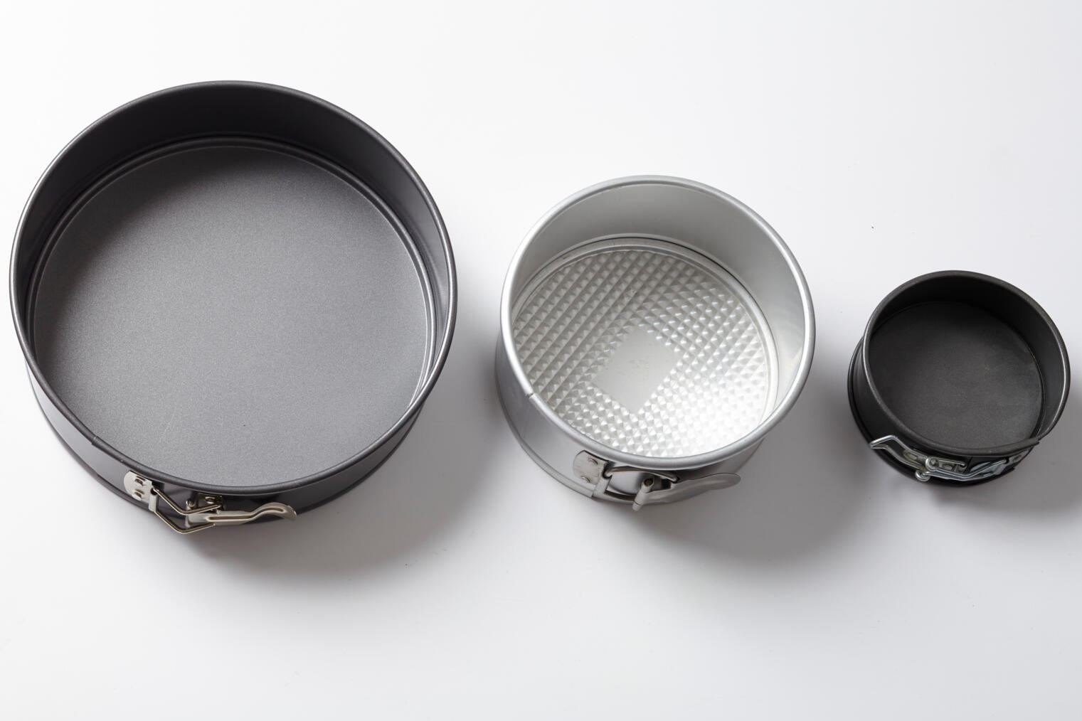 large, medium, and small springform pans