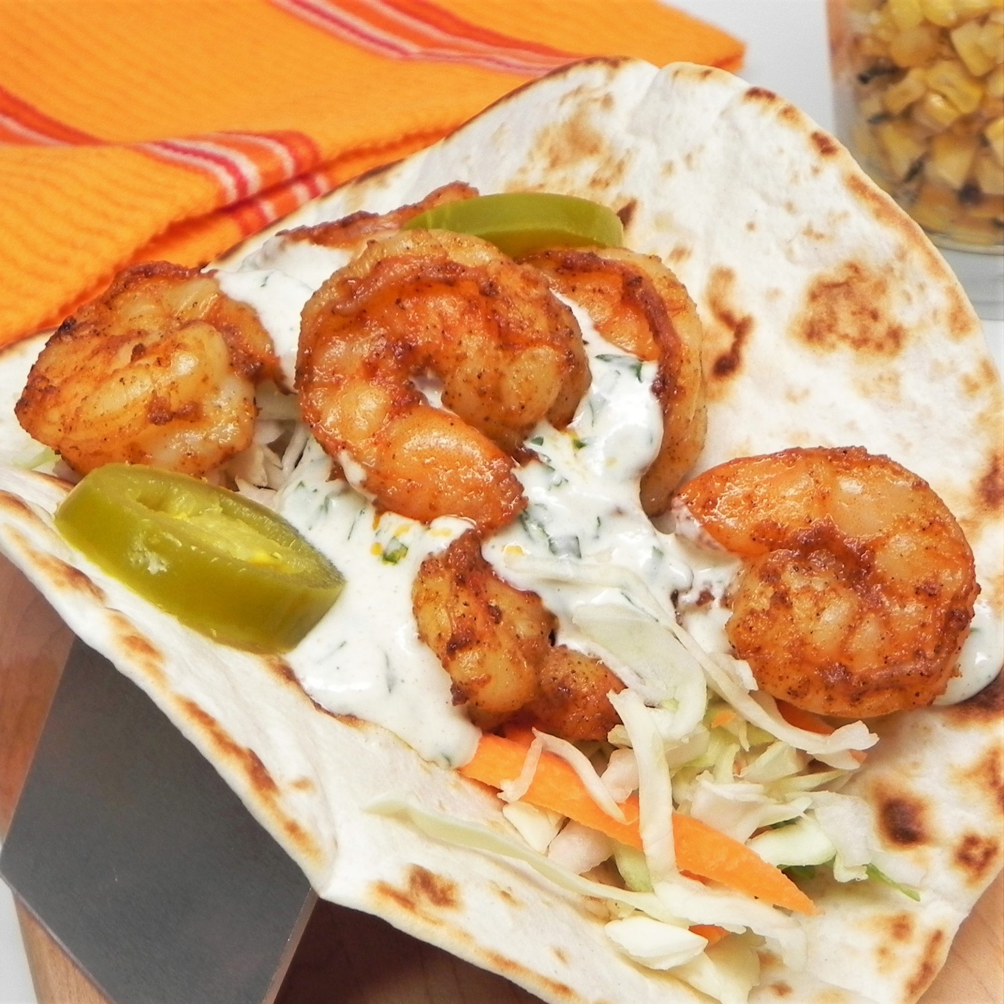 air fryer shrimp tacos