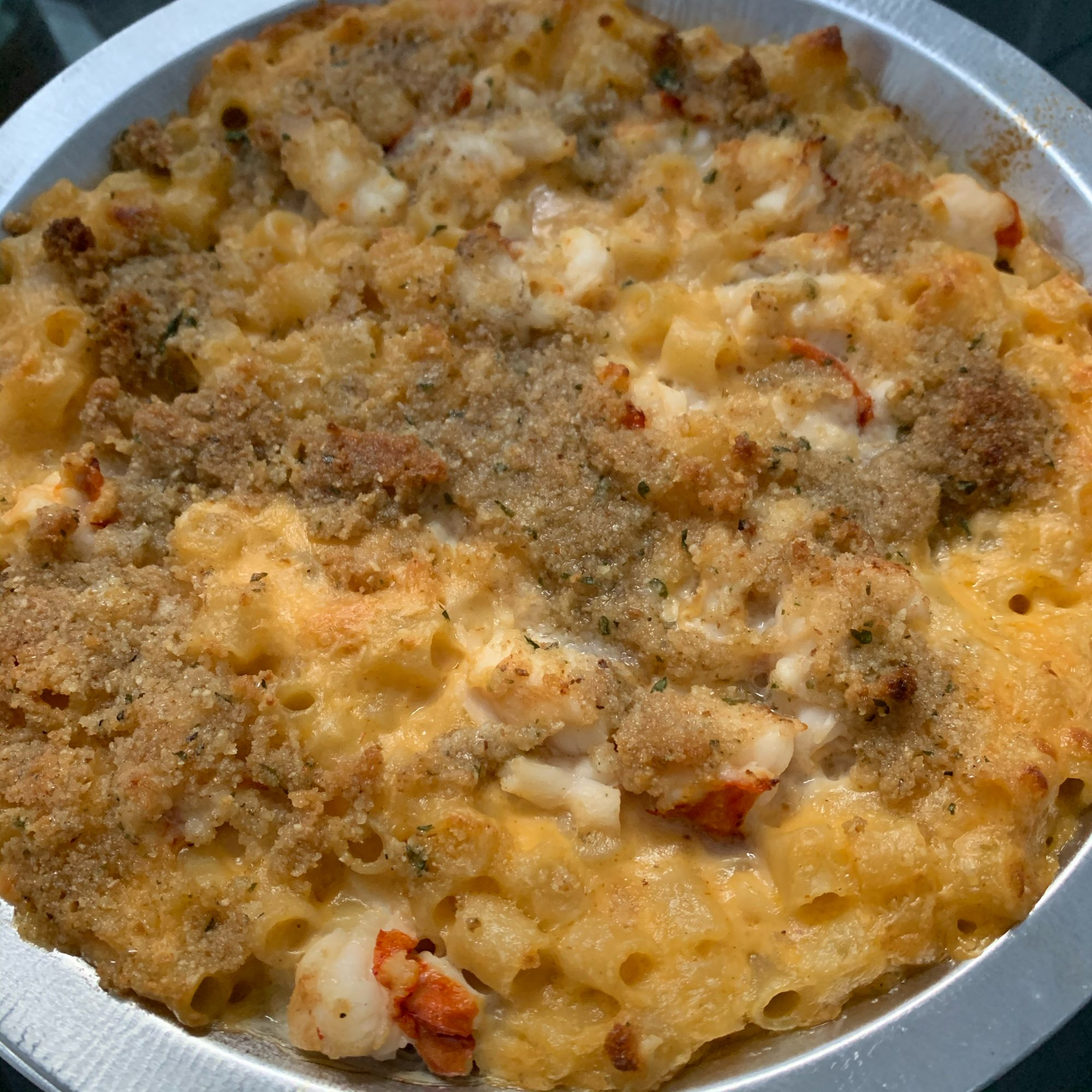 Chef John's Lobster Mac and Cheese in a white dish