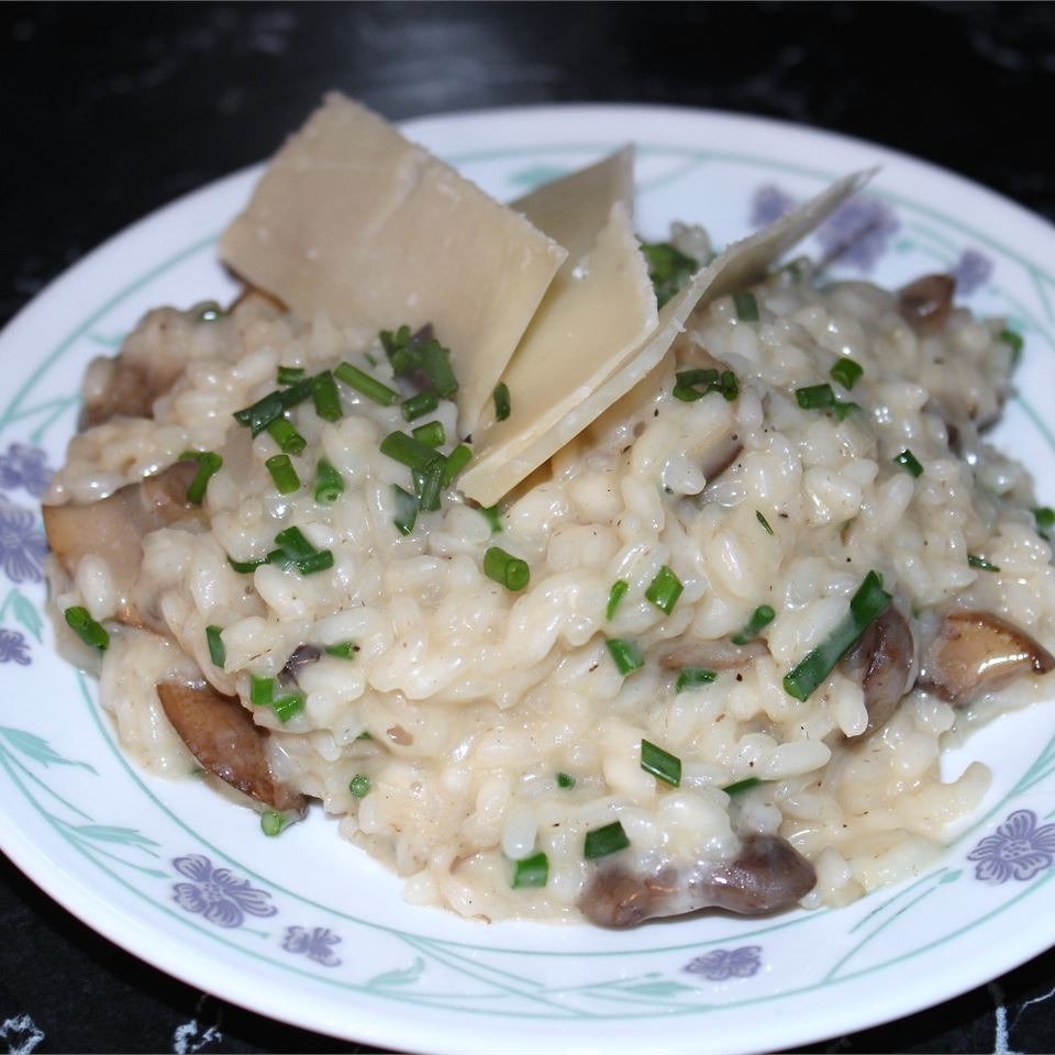 risotto with mushrooms and parmesan cheese
