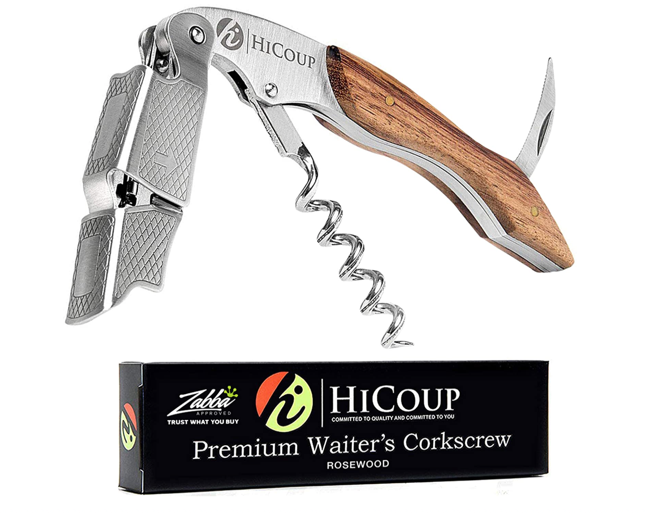 Camp bottle opener and corkscrew