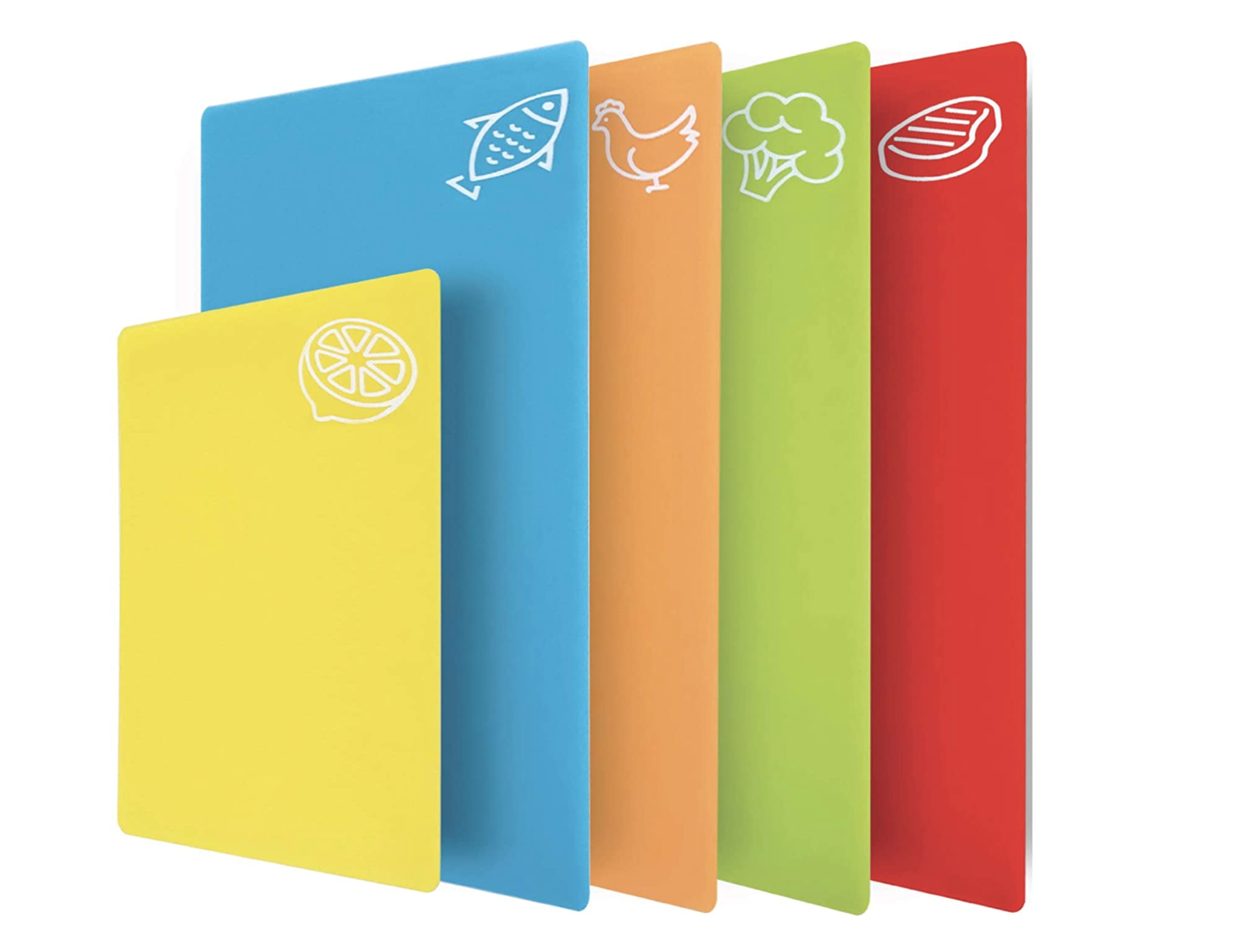 colorful plastic cutting boards