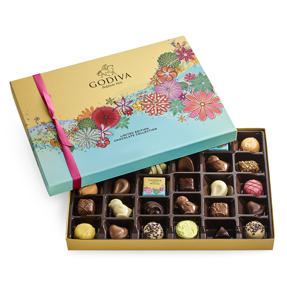 Assorted Chocolate Gift Box, Spring Ribbon, 32 pc.