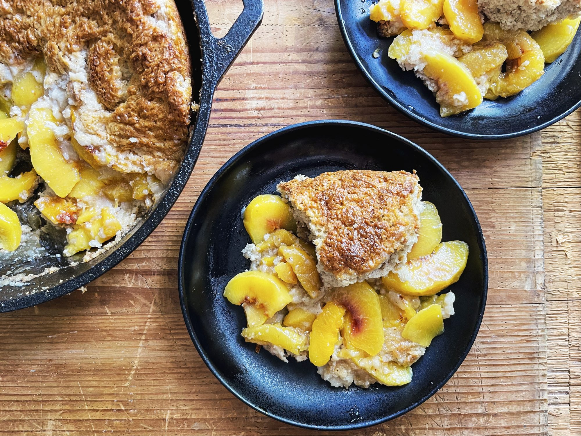 Dutch Oven Peach Cobbler for Camping