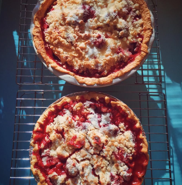 """Here's an old family recipe that was practically made for summertime entertaining. """"'The Old Boy' is my dad, but my mom remembers her grandmother making a pie like this when she was young,"""" says recipe creator SCATTERFLAKE."""