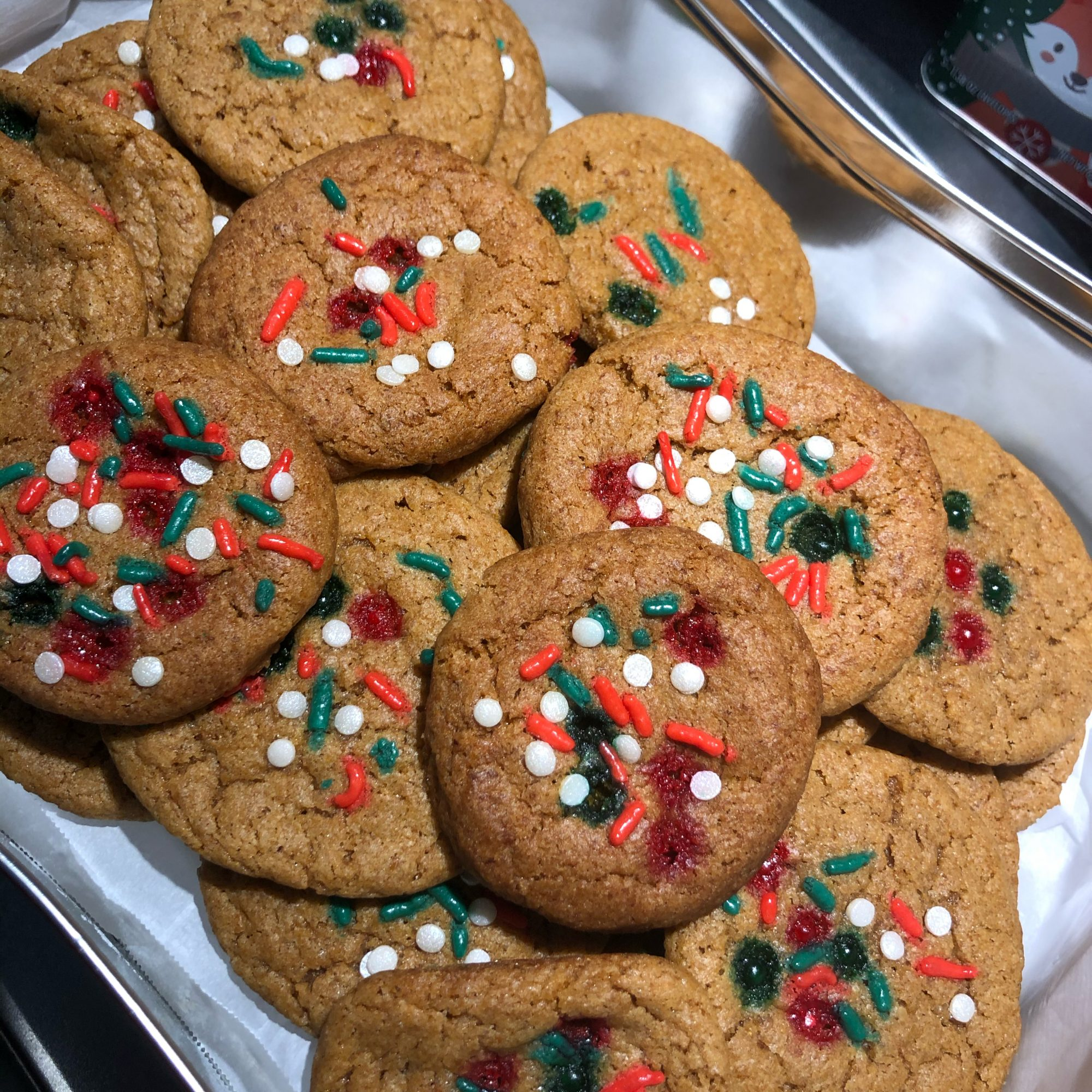 Despite their size, these giant spice cookies are super simple to make thanks to one special ingredient: spice cake mix. The cake mix gives these cookies a soft, airy feeling but still yields a satisfyingly chewy cookie.