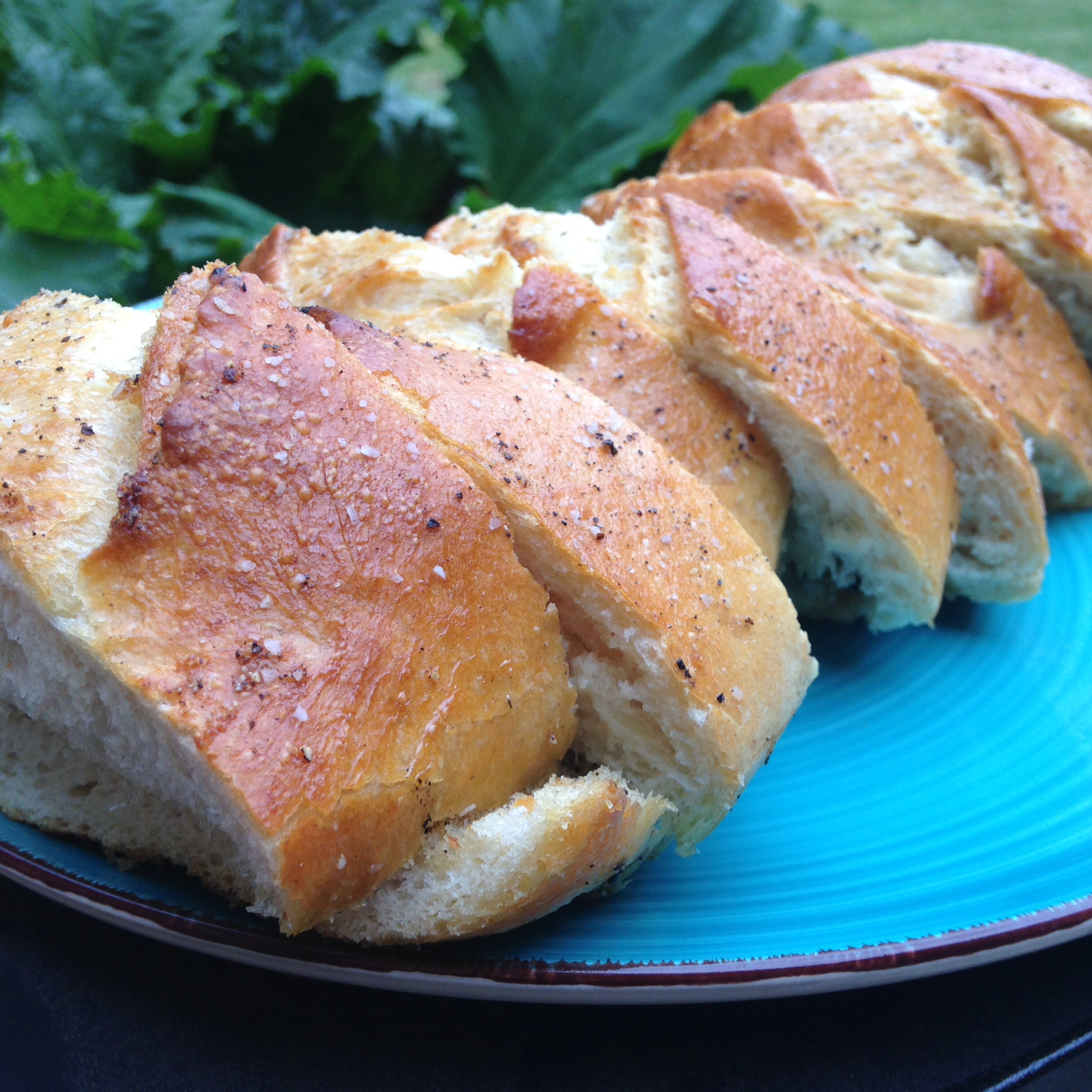 Grilled Salt and Pepper Bread