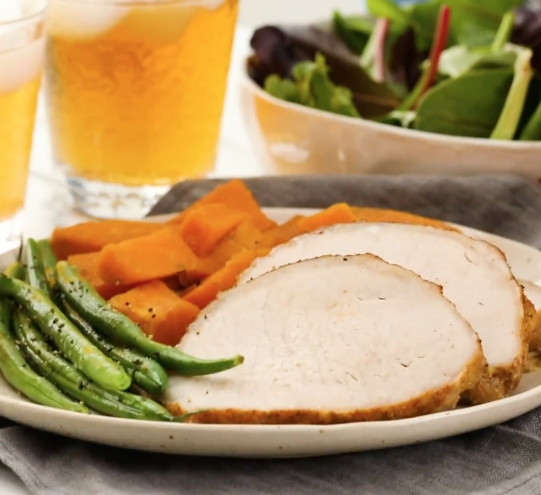 Slow Cooker Pork Loin Roast with Brown Sugar and Sweet Potatoes
