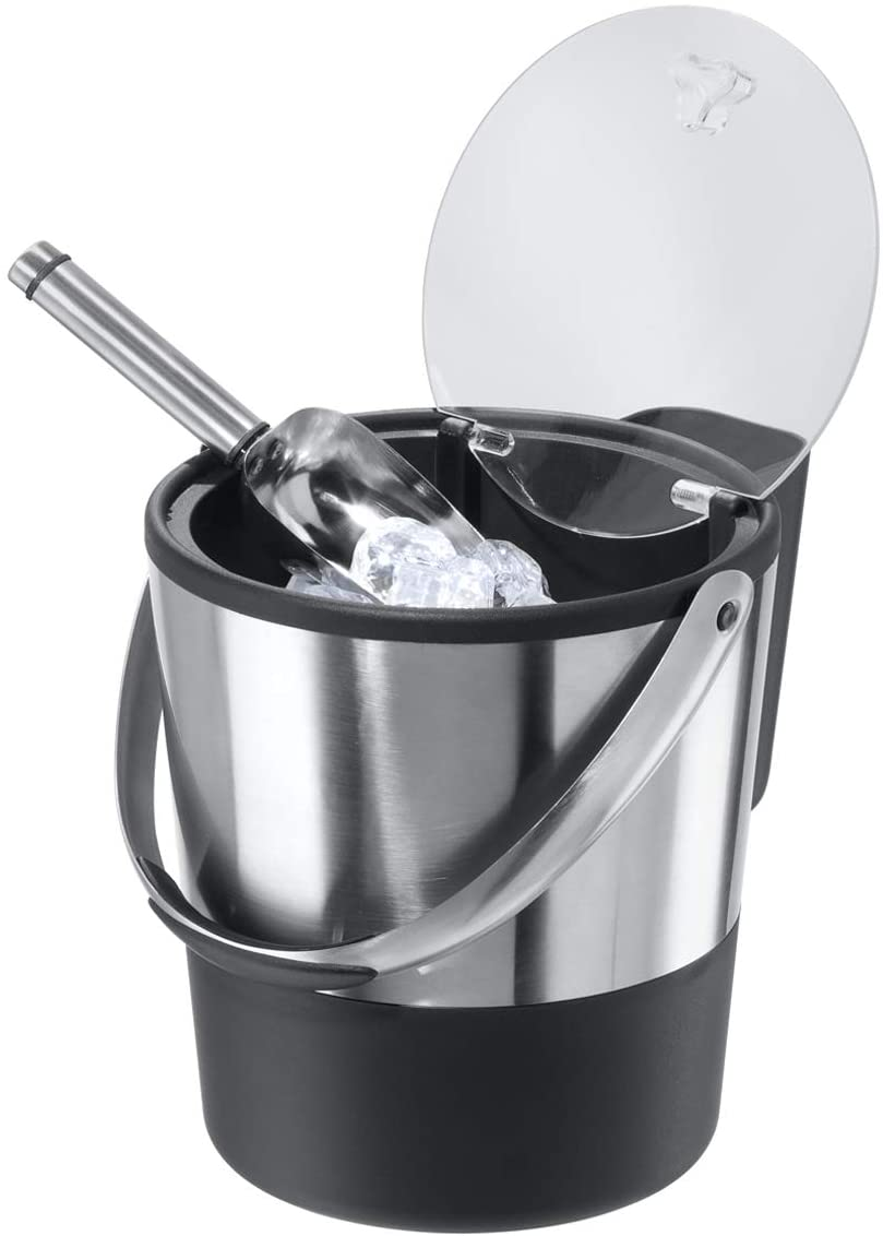 stainless steel ice bucket with scoop