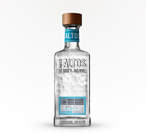 bottle of altos tequila with wooden top