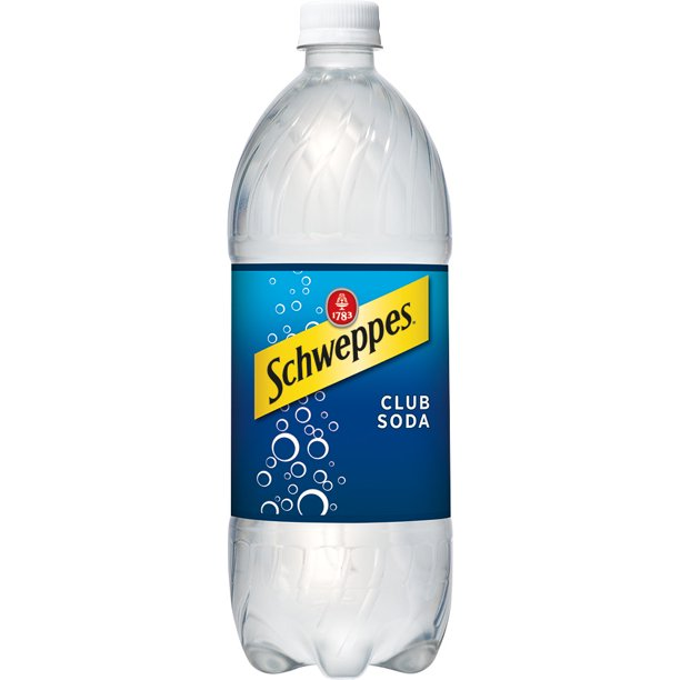 one liter bottle of schewppes club soda