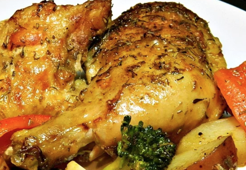 This crowd-pleasing recipe —made by roasting chicken with fingerling potatoes and broccoli —is perfect for a family dinner and it can easily be doubled for a large group.