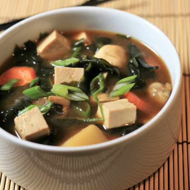 """This hearty soup is """"very satisfying on a cold night,"""" says recipe creator BrandonT, who notes that shiitake or straw mushrooms can be used in place of white mushrooms."""