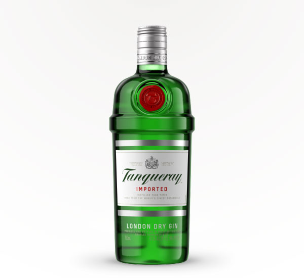 green bottle of Tanqueray London Dry Gin