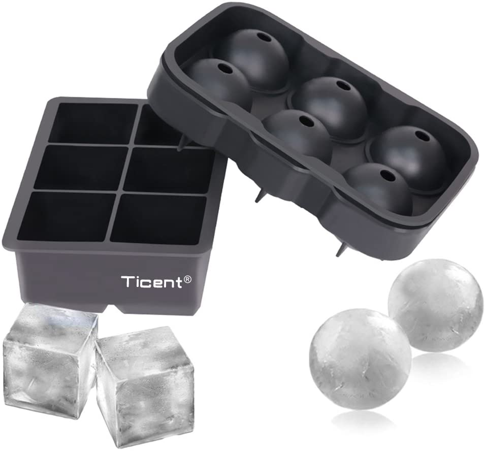 square and round ice cube molds