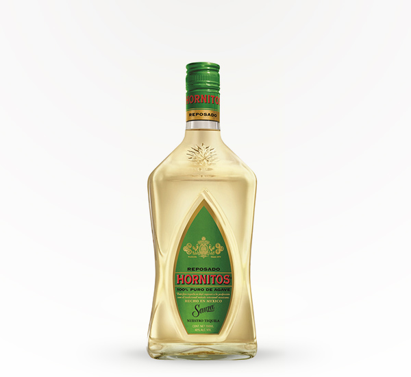 gold tequila with green label