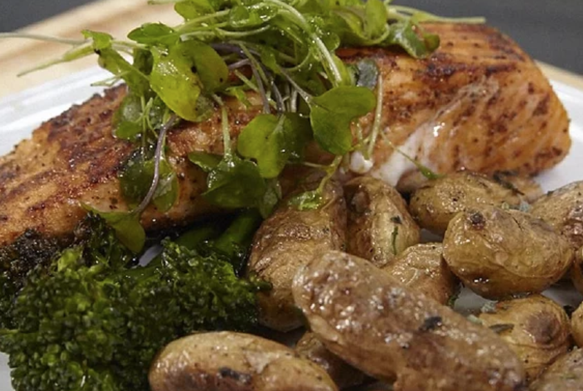 Jacob's Grilled Cajun Salmon with Roasted Fingerling Potatoes