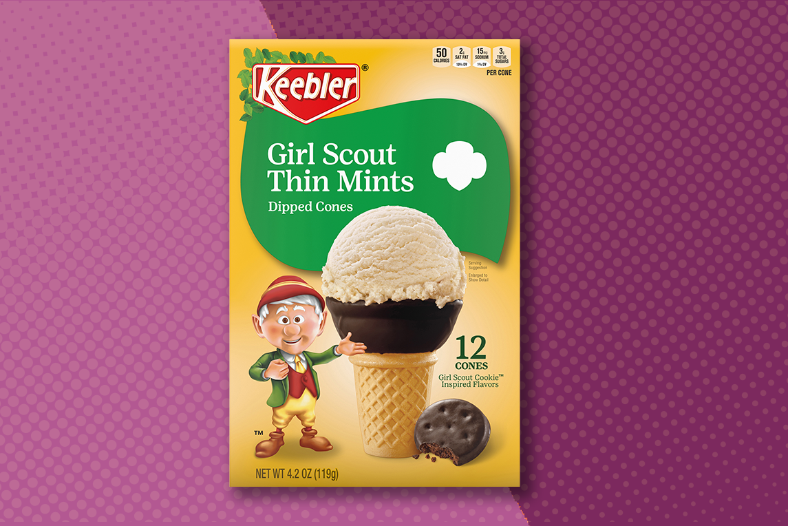 Keebler Girl Scout Thin Mint Cones
