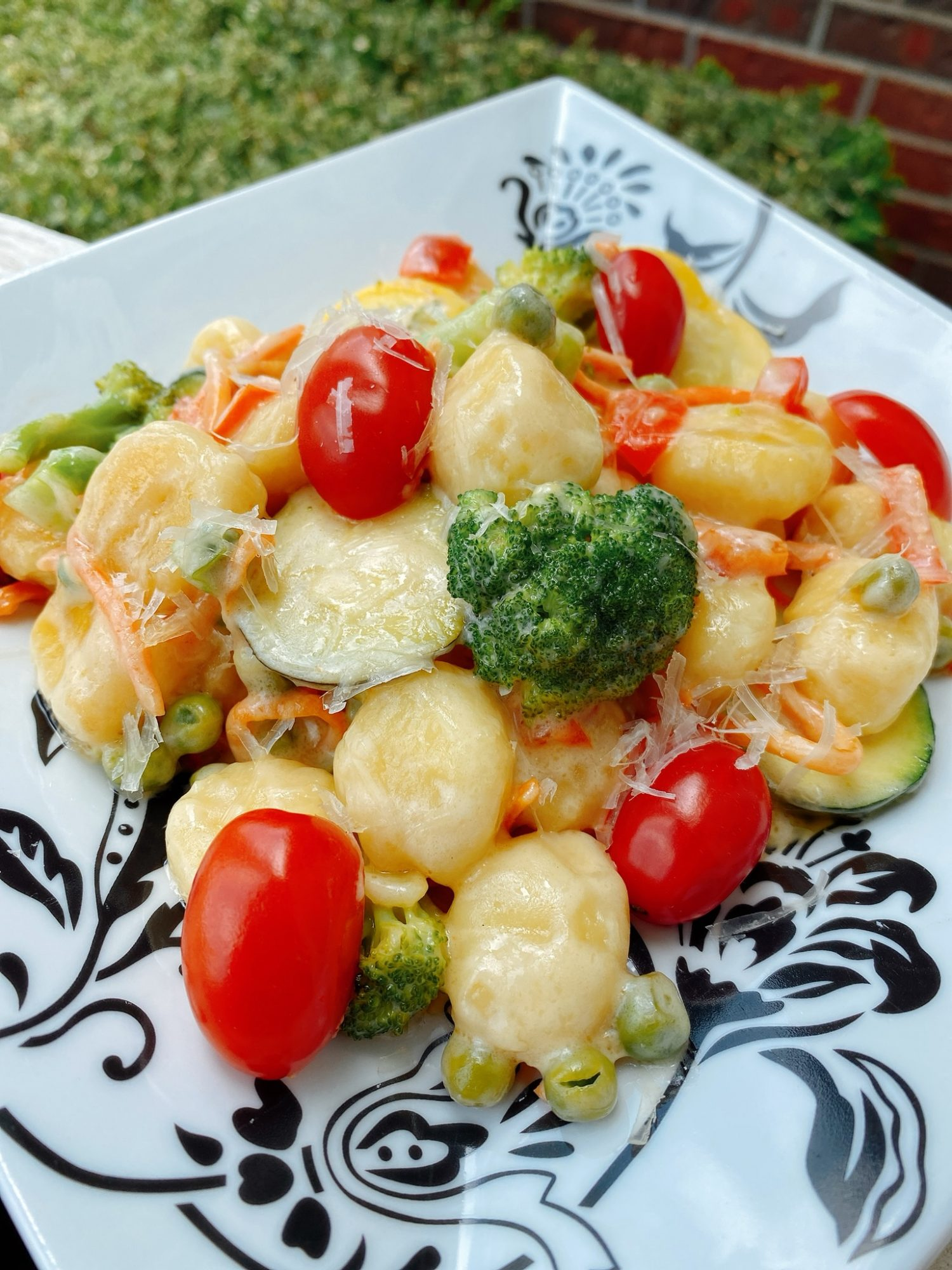 gnocchi with broccoli and cherry tomatoes