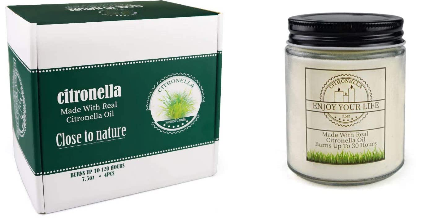 close to nature cintronella candle and box