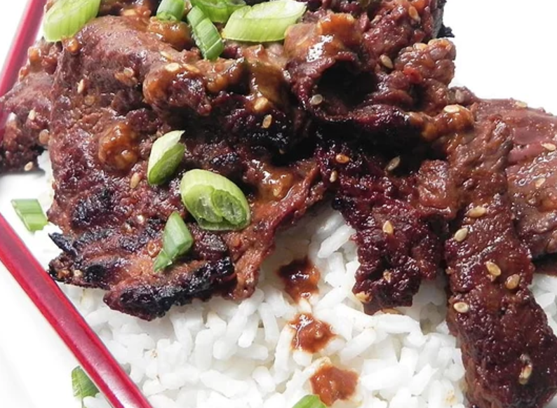 Two tablespoons of whole dried cayenne peppers and a teaspoon of ground cayenne pepper takes this beef bulgogi up a few notches.