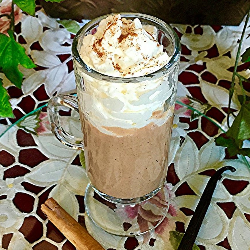 Mexican hot chocolate with whipped cream